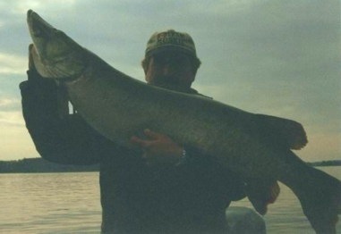 John Unsworth with a 50 pounder taken September 2000 on LOTW